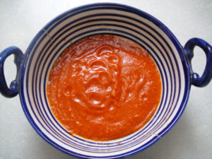 Paste of red chillies.