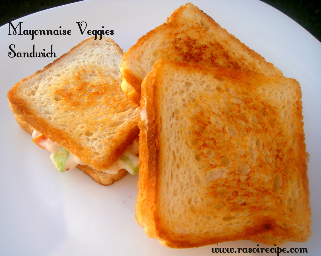 Mayonnaise Veggies Sandwich