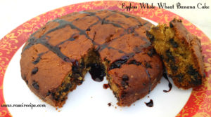 Eggless Whole Wheat Banana Cake