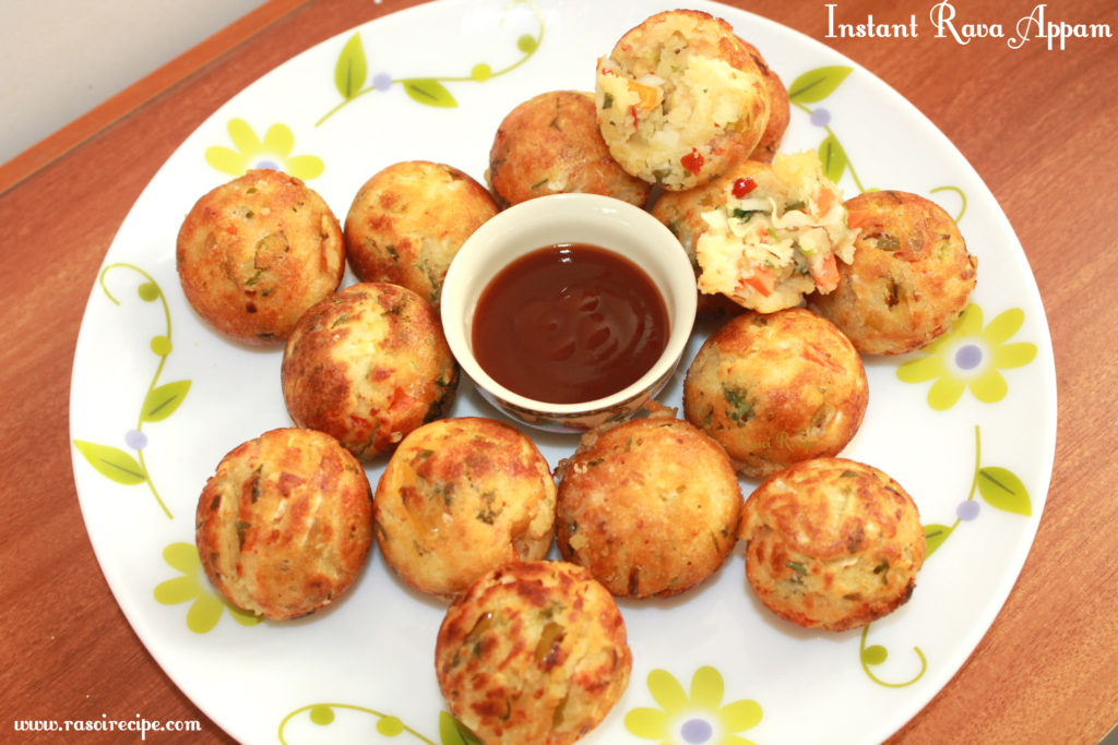 Instant Vegetable Rava Appam