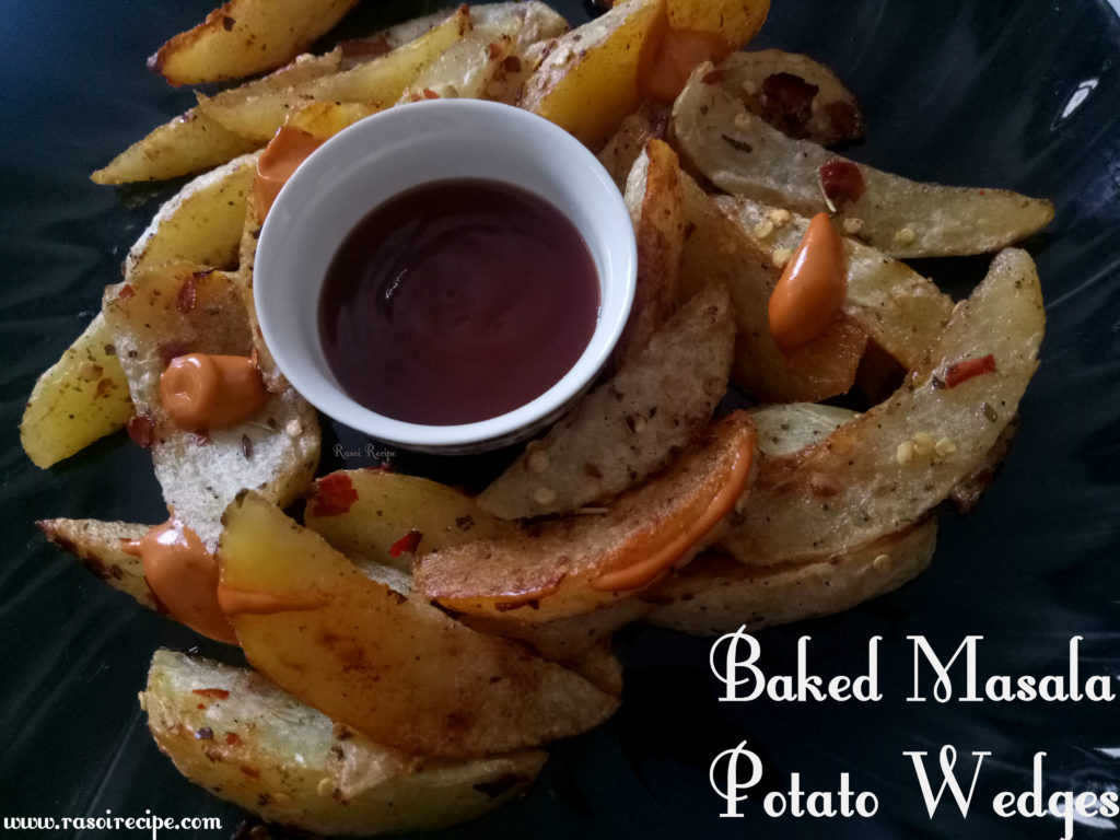 Baked Masala Potato Wedges