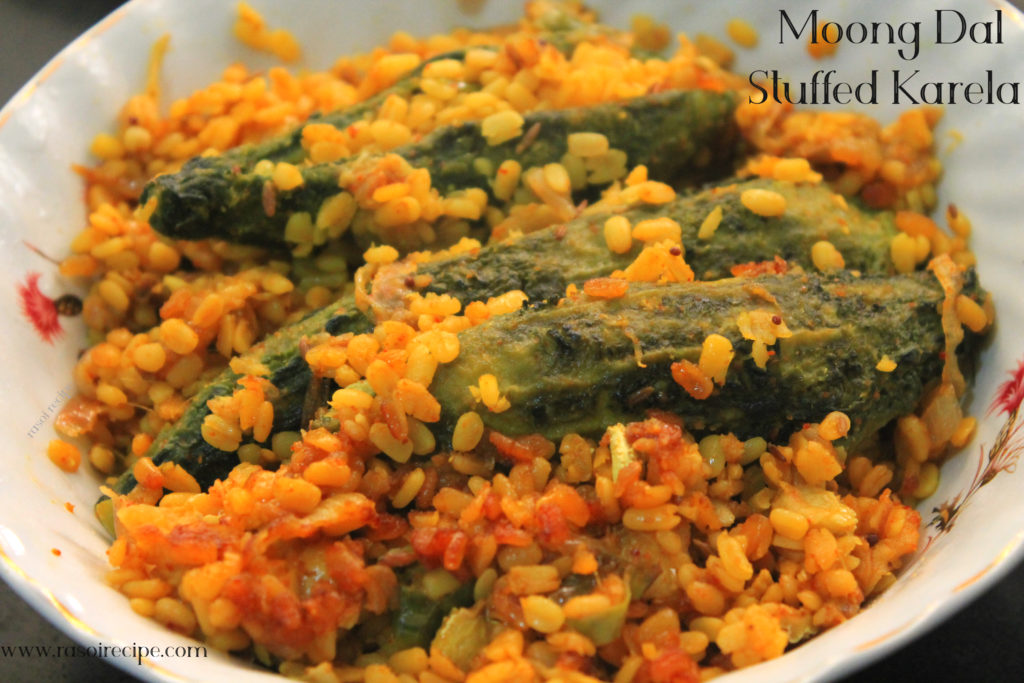 Moong Dal Stuffed Karela